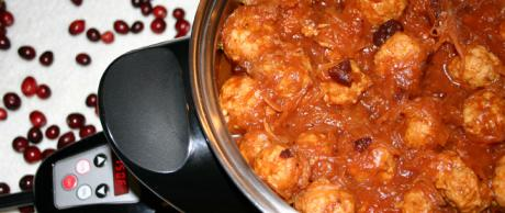 Saladmaster Healthy Solutions 316 Ti Cookware: Cranberry Turkey Meatballs