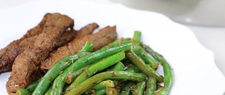 flank steak marinade, green beans, braiser, lemon, garlic