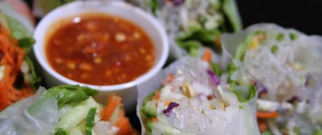 Kelp Spring Rolls with Sweet Chili Dipping Sauce