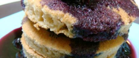 Saladmaster Recipe Gluten-Free Pancakes with Blueberry Sauce