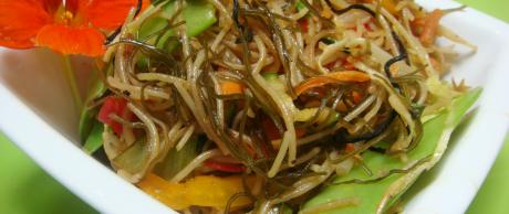 Saladmaster Recipe Vegetable Noodle Stir-Fry (Pansit Style)
