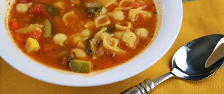 vegan, vegetables, soup, minestrone, pasta