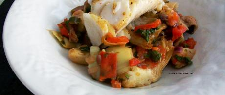 Saladmaster Recipe Pan Roasted Sablefish with Mediterranean Artichoke Stew by Cathy Vogt