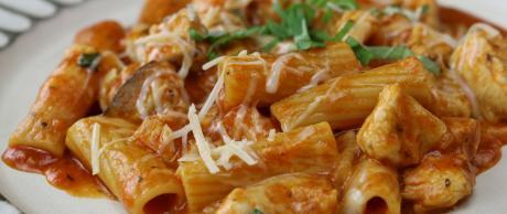 rigatoni, pasta, marinara, chicken recipes, cheese