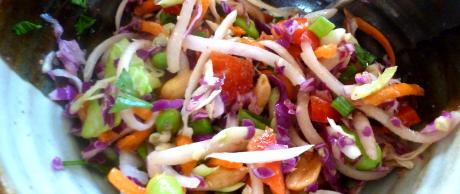 Saladmaster Recipe Asian Slaw with Peanut Butter Dressing