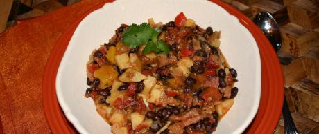 Brazillian Black Bean Mango Stew