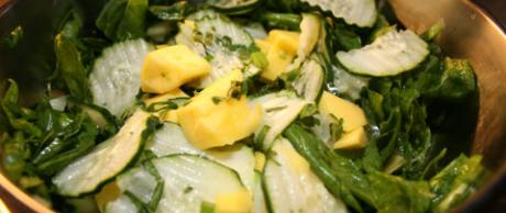 Saladmaster Recipe 316Ti Cookware: Cucumber, Mango and Spinach Salad