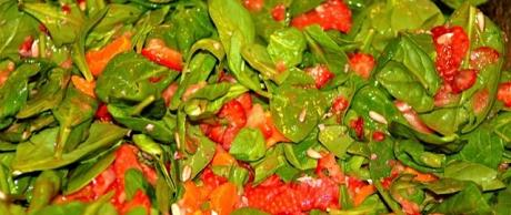 Saladmaster PCRM Recipe Spinach Salad with Citrus Fruit