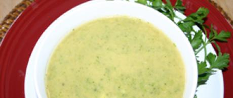 Saladmaster Recipe: Cream of Yogurt-Broccoli Soup with Mint