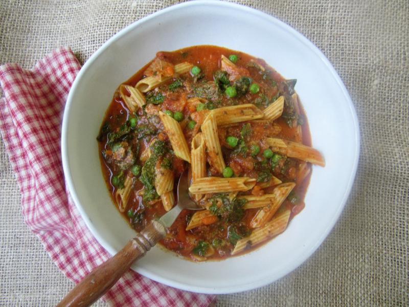 Lentil Pasta with Kale