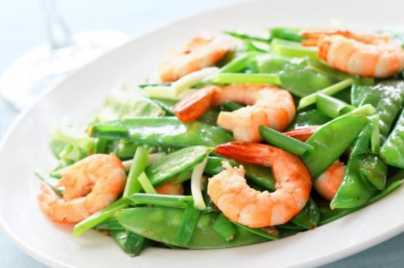 Saladmaster Recipe 316Ti Shrimp and Snow Peas