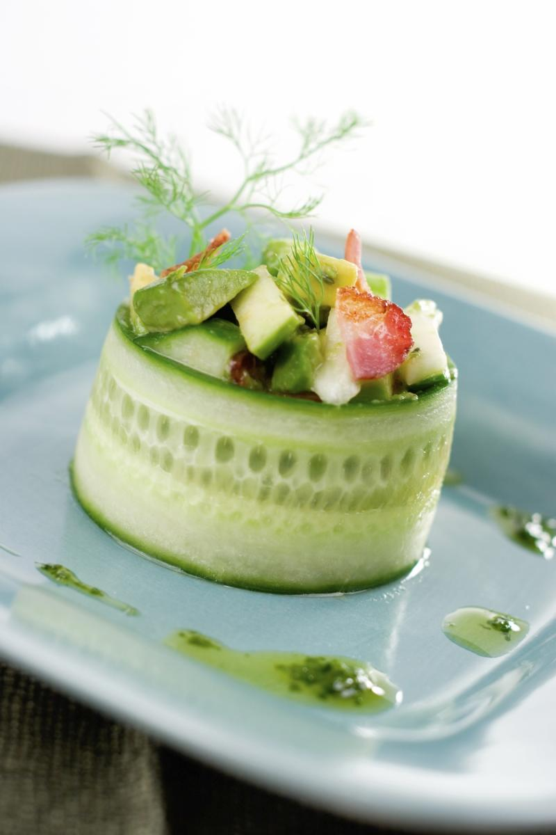 Saladmaster Cucumber Salad Cylinders with Basil Infused Olive Oil